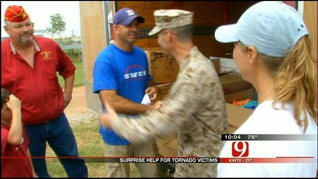 El Reno Marine, Family Gets Help From Alabama Comrades