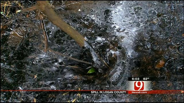 Logan County Residents Concerned About Tar-Like Spill On Land