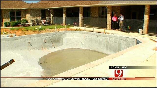 Norman Family Out $30K After Pool Contractor Skips Out On Work