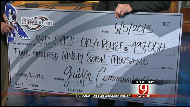 Griffin Communications Presents Check To Red Cross For Storm Victims