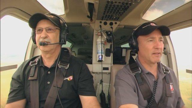 SkyNews 9 HD Pilot Jim Gardner And David Payne Tour El Reno Damage