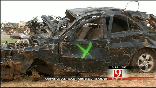 Out-Of-State Tow Trucks Hit Roadblock Towing Tornado-Damaged Vehicles