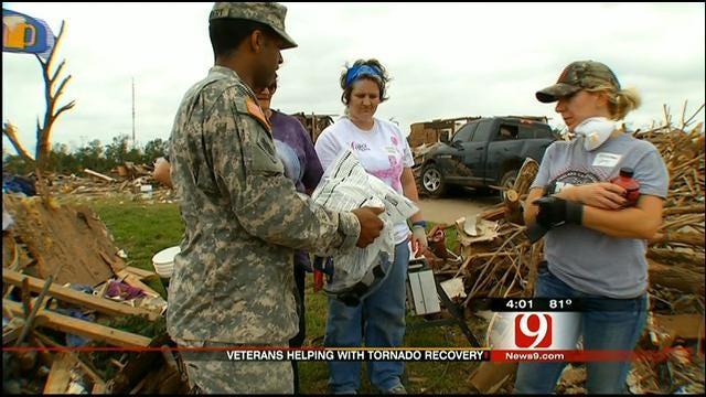 Veterans Help Clean Up Tornado Damage In Moore On Memorial Day