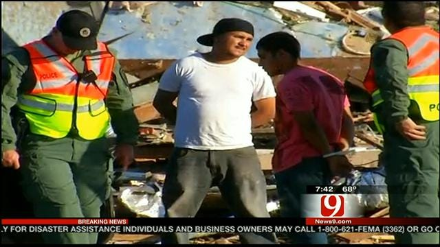 Two Arrested, Accused Of Looting In Tornado-Ravaged Moore Neighborhood