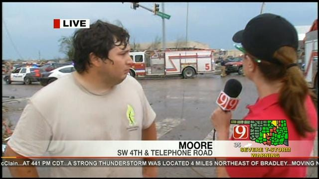 Moore Resident Helps To Save People Trapped Inside 7-11
