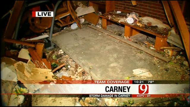 News 9 Reporters Heather Hope, Chris McKinnon Cover Carnage In Carney