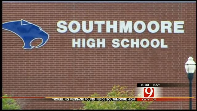 Threatening Message Causes Stir At Southmoore HS