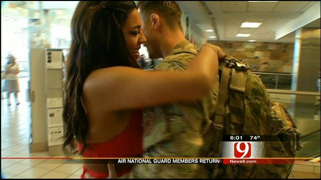 Families Welcome Home Air National Guard Members