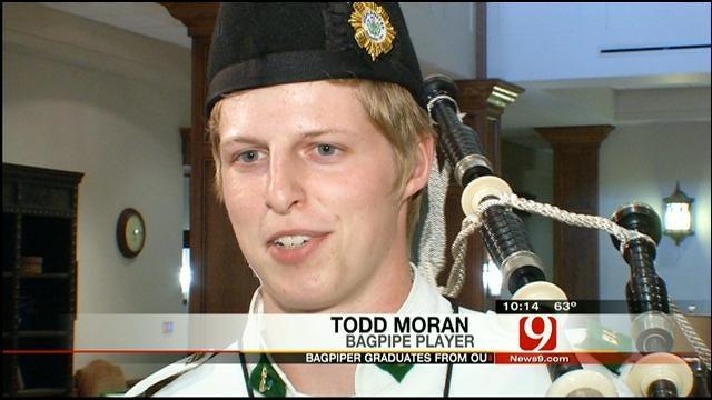 Oklahoma Native, OU Bagpiper Graduates With Honors