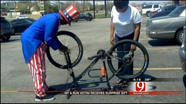 Strangers Donate New Bike To Man Injured In OKC Hit-And-Run