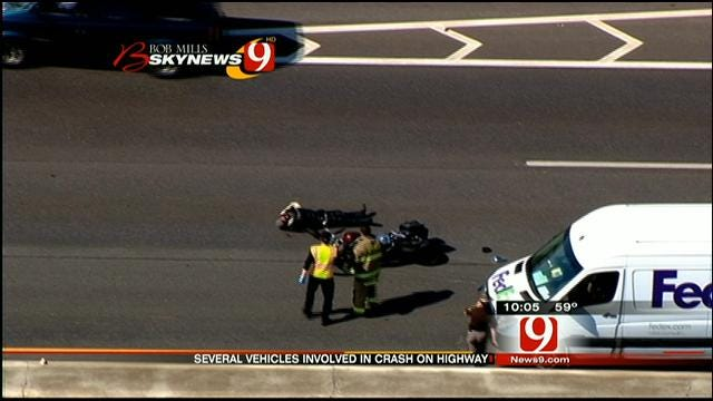 Motorcyclist Injured In Crash On I-240 In OKC Remains In Serious Condition