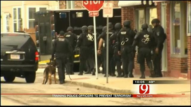 Boston Police Officers Learn From Oklahoma City Training Experience