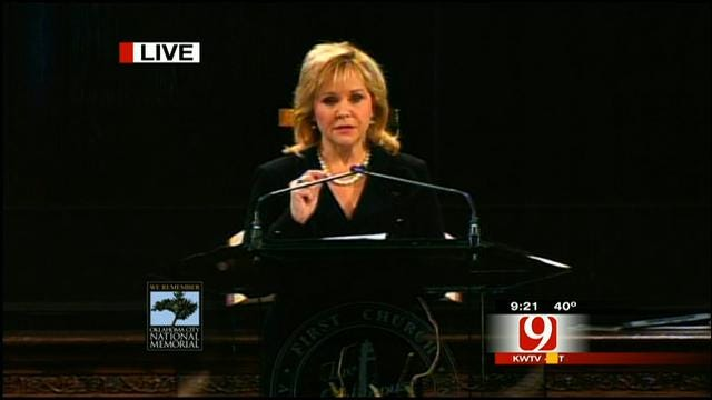 Gov. Mary Fallin Speaks At Murrah Bombing Remembrance Ceremony