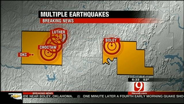 Five Earthquakes Shake Oklahomans Out Of Bed