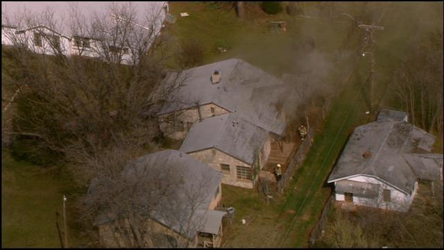 WEB EXTRA: Bob Mills SkyNews 9 Flies Over House Fire In NE OKC