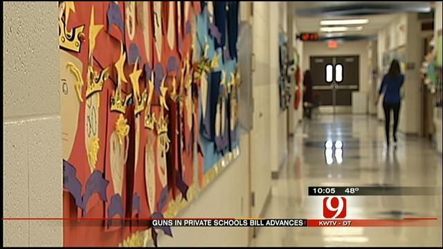 Bill Allowing Guns At OK Private Schools Advances In Senate