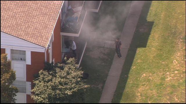Bob Mills SkyNews 9 Flies Over Apartment Fire In NW OKC