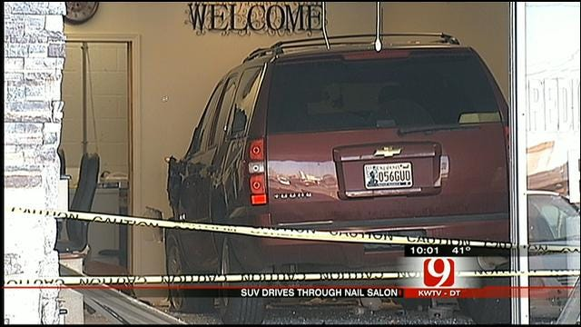 Neighbors Speak Out After Man Crashes SUV Into SW OKC Nail Salon