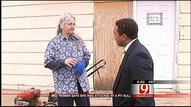 Elderly Woman Bitten By Pit Bull in OKC Speaks Out About Delayed Response