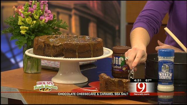 Chocolate Cheesecake With Caramel Sea Salt
