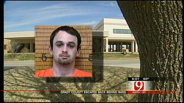 Grady County Jail Escapee Captured In Blanchard Tuesday Morning