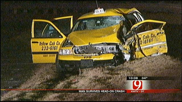 Passenger In Taxi, Hit Head-On, Talks About Crash