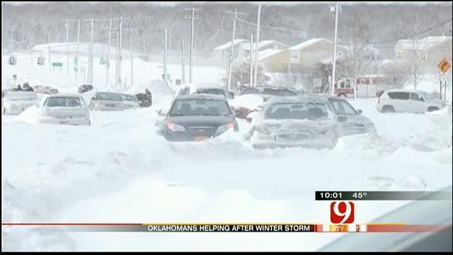 Oklahomans Among Those Battling Through Northeast Blizzard