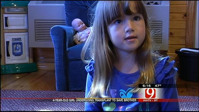 Moore Girl, 4, Trying to Save Brother's Life With Bone Marrow Transplant