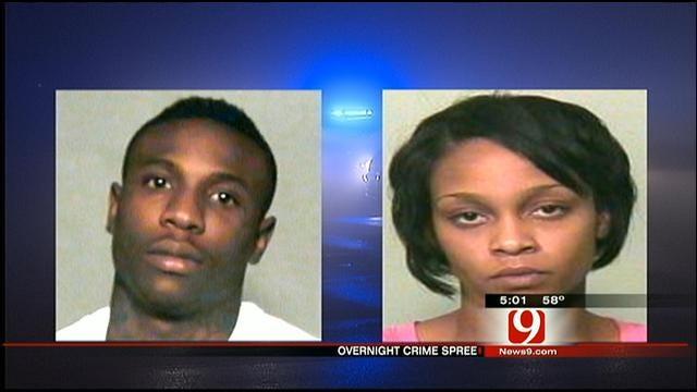 2 Arrested in Overnight Crime-Spree In NW OKC