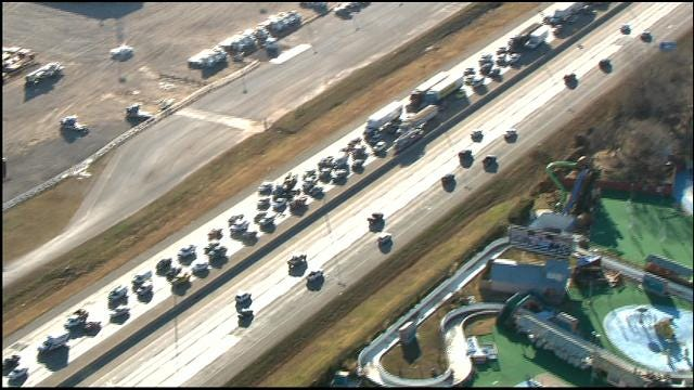 WEB EXTRA: I-40 Traffic Backed Up After Two-Vehicle Accident