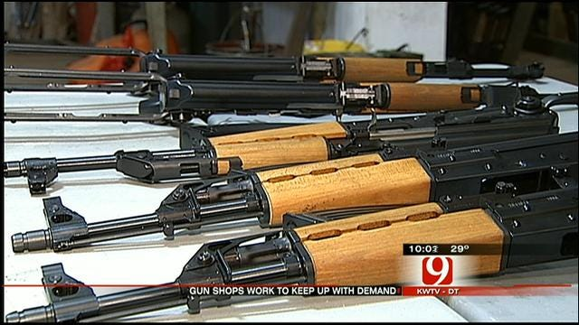 Del City Gun Shop Struggling To Keep Up With Demand