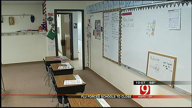 Flu Forces Southwest OKC School Closed
