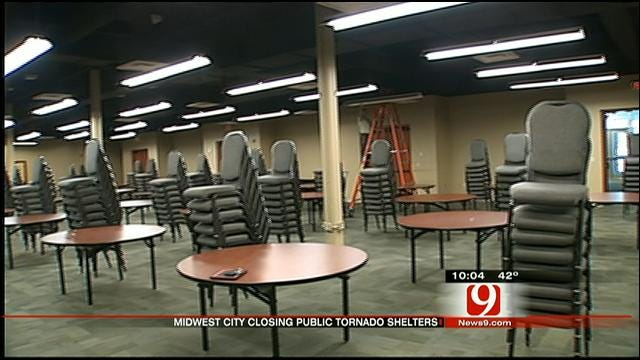 Midwest City Council Votes To Close Public Tornado Shelters
