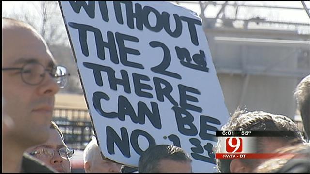 Gun Rights Activists Rally At Oklahoma State Capitol