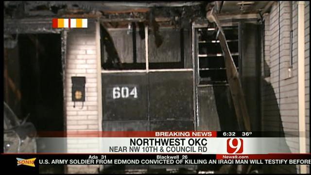 Fire Destroys NW OKC Home