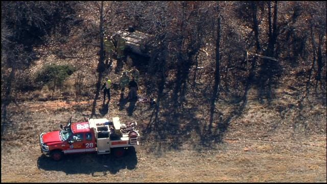 WEB EXTRA: Bob Mills SkyNews9 HD Flies Over Fatal Accident On I-40