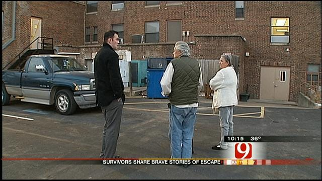 Victims Return To Cushing Apartments Destroyed By Fire
