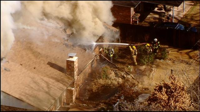 WEB EXTRA: Fire Destroys Home In Bethany