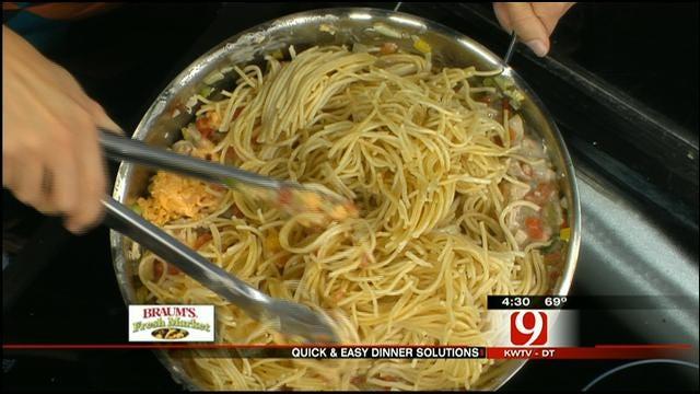 Lite Chicken Spaghetti