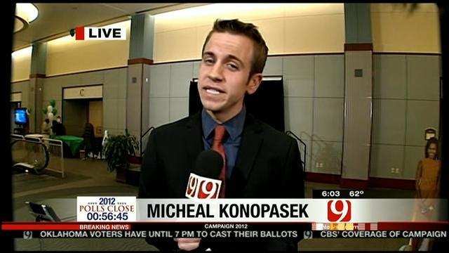 Michael Konopasek Reports From Democrat Watch Party