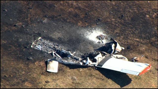 SkyNews 9 Captures Fatal Plane Crash Wreckage In Caddo County