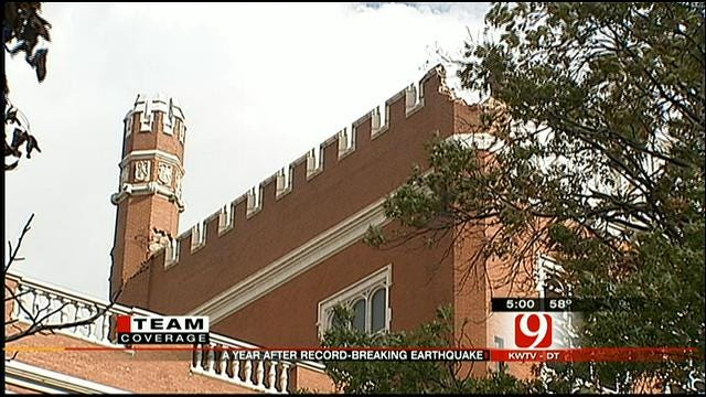 News 9's Kelly Ogle Shows Progress Of Rebuilding After OK Earthquakes