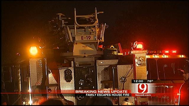 Family Escapes Burning Home In Southwest OKC