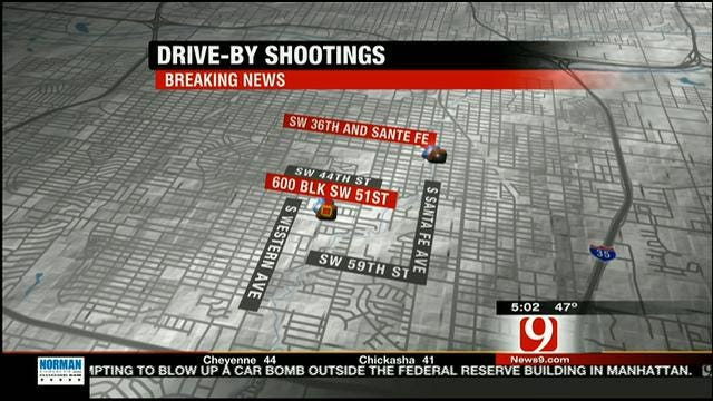 Police Seek Vehicle Possibly Related To Multiple Drive-By Shootings In OKC
