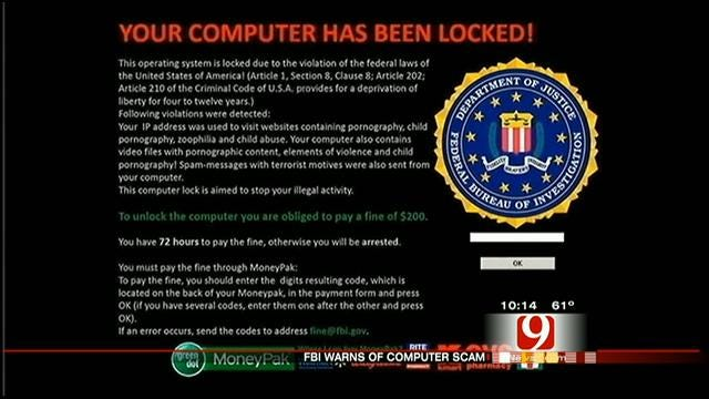 Global Internet Scam Hits Computers In OKC