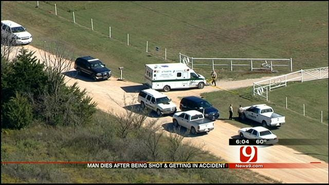 Norman Man Crashes Van In Pottawatomie County After Being Shot