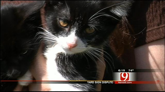 Midwest City Sign Dispute Over Free Kittens