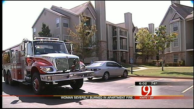 Woman Badly Burned After Police Say She Set Herself On Fire