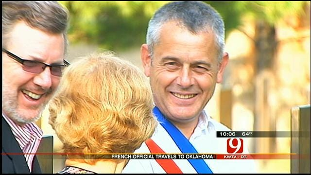 Mayor Of French Village Honors Two Oklahoma World War II Veterans