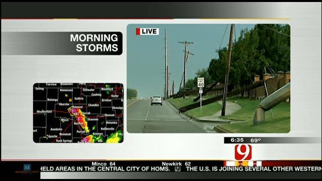 Power Poles Down, Debris Across Metro Due To Storms